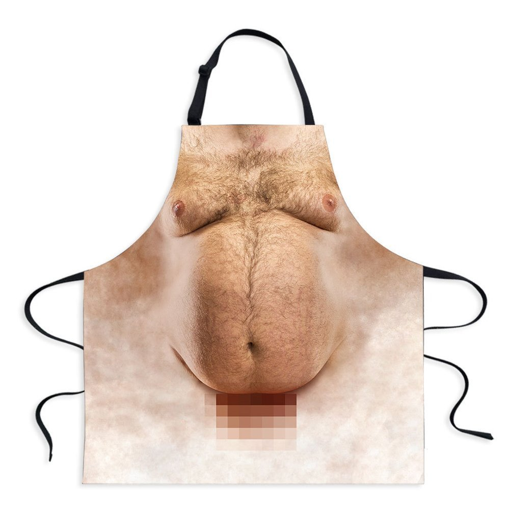 Fivebop Funny Cooking Apron for Men - Fat Man