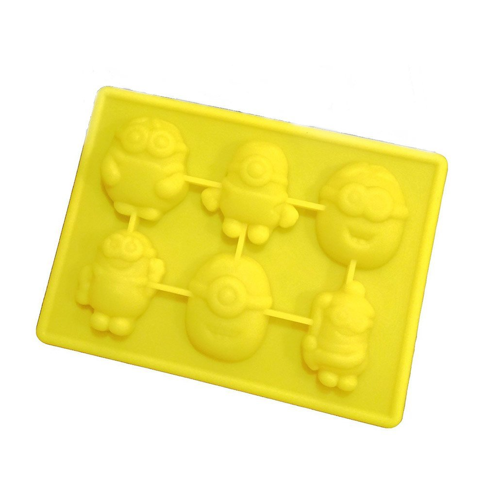 Fivebop Minions Silicone Ice Trays Chocolate Molds - Yellow